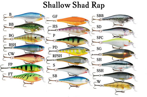 Rapala Shad Rap RS-Special Edition-with Country Flag-NEW