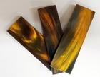 Buffelhorn skala guld/svart