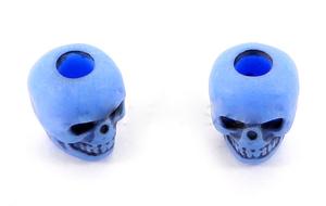Skull bead Neon Blue