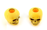 Skull bead Neon Yellow