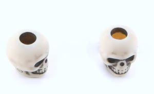 Skull bead Antique Ivory