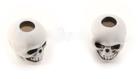 Skull bead Antique White