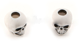 Skull bead Antique White