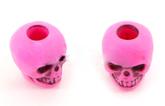 Skull bead Hot Pink